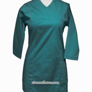 بلوزوشلوار جراحی رنگ سبزیشمی